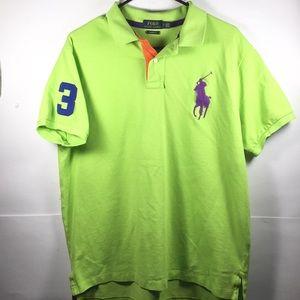 Ralph Lauren Polo Shirt Purple Horse Men Sz XL